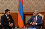 Սերժ Սարգսյանը և Իրաքի գյուղատնտեսության նախարարը քննարկել են հայ–իրաքյան միջկառավարական հ...