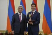 Президент принял студентов и школьников, удостоенных образовательных премий Президента РА ...