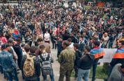 Ցուցարարները Գյումրիում փակել են Սայաթ Նովա - Թատերական հրապարակն ու Գայի փողոցը