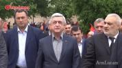 Սերժ Սարգսյանը ներկա է գտնվել Գրետա Սարգսյանի հուղարկավորությանը (տեսանյութ)