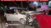 Խոշոր ավտովթար Երևանում. 3 ավտոմեքենաներ են բախվել. կա վիրավոր