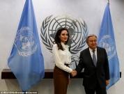 Անջելինա Ջոլին հանդիպել է ՄԱԿ-ի գլխավոր քարտուղարի հետ (լուսանկարներ)