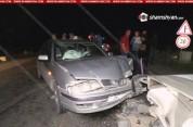 Ավտովթար Արագածոտնի մարզում. ճակատ-ճակատի բախվել են Nissan-ն ու Opel-ը, կա 4 վիրավոր. Sham...