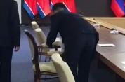 Պուտինի հետ հանդիպումից առաջ Կիմ Չեն Ընի աթոռը սպիրտով մաքրել են (տեսանյութ)