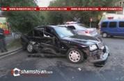 Երևանում բախվել են Mercedes-ն ու Opel-ը. ամուսիններն ու նրանց երեխան տեղափոխվել են հիվանդա...