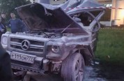 Մոսկվայում Տիմատիի Mercedes-ին բախված հայ վարորդը գումար չի վճարի ռեփերի այրված մեքենայի հ...