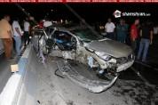 Իսակովի պողոտայում BMW-ով բախվել էլեկտրասյանը. 23-ամյա ուղևորուհին տեղում մահացել է
