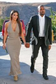 Элегантные Ким Кардашян и Канье Уэст на свадьбе друзей