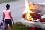 Желавшая отомстить бывшему американка сожгла не ту машину