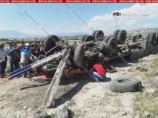 Կոտայքի մարզում բախվել են Opel-ն ու КамАЗ. շուռ եկած КамАЗ-ի վարորդը մահացել է