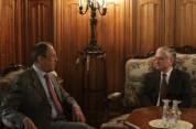 Էդվարդ Նալբանդյանը Սերգեյ Լավրովի հետ քննարկել է Ղարաբաղյան հիմնախնդրին առնչվող հարցեր