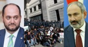 Նիկոլ Փաշինյանը հանդիպել է Արայիկ Հարությունյանի հրաժարականը պահանջող երիտասարդների հետ