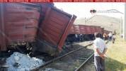 Հրազդանում գնացքի՝ հանքանյութով բեռնված 9 վագոններ դուրս են եկել երկաթգծից և թեքվել