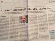 Շվեյցարիական «Berner Zeitung»-ը մեր երկրի մասին հոդված է տպագրել՝ «Հայաստանը քաղում է հեղա...