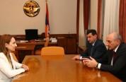 Արցախի նախագահը եւ ՀՀ մշակույթի նախարարը  քննարկել են մշակույթի ոլորտում հայկական 2 հանրապ...