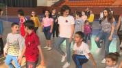 Աննա Հակոբյանը մարզվում է քաղցկեղը հաղթահարած երեխաների հետ
