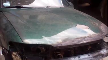 Հրկիզել է աներոջ ավտոմեքենան (տեսանյութ)