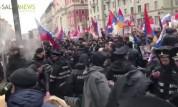 В Москве произошла драка между армянами и азербайджанцами из –за флага Арцаха (видео)