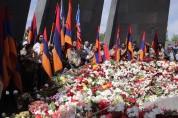 Հայաստանի եւ Արցախի բարձր ղեկավարությունը այցելեց Ծիծեռնակաբերդի հուշահամալիր