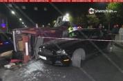 Երևանում բախվել են Mustang-ը, Toyota-ն և ВАЗ 2104-ը