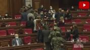 Լարված իրավիճակ Ազգային Ժողովում (տեսանյութ)