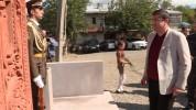 Արայիկ Հարությունյանը Բերքաձոր համայնքում մասնակցել է խաչքար-հուշարձանի բացմանը