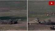 Ադրբեջանական տանկերի և կենդանի ուժի ոչնչացումը (տեսանյութ)