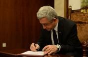 Նախագահ Սերժ Սարգսյանը ստորագրել է Ազգային Ժողովի ընդունած մի շարք օրենքներ