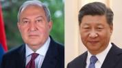 Չինաստանի նախագահը շնորհավորել է Արմեն Սարգսյանի տարեդարձը