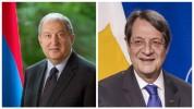 Արմեն Սարգսյանը շնորհավորել է Կիպրոսի նախագահ Նիկոս Անաստասիադիսին ծննդյան 75-ամյակի առթիվ...
