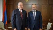 Արմեն Սարգսյանը շնորհավորել է Նիկոլ Փաշինյանին
