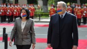 Վրաստանի նախագահի նստավայրում տեղի է ունեցել ՀՀ նախագահի դիմավորման պաշտոնական արարողությո...