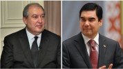 Արմեն Սարգսյանին ծննդյան օրվա առթիվ շնորհավորել է Թուրքմենստանի նախագահ Բերդիմուհամեդովը