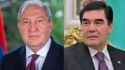 Հայաստանի Անկախության 30-ամյակի առթիվ նախագահ Արմեն Սարգսյանին շնորհավորել է Թուրքմենստանի...