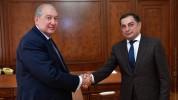 Արմեն Սարգսյանը հանդիպել է Վահրամ Բաղդասարյանի հետ