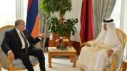 Արմեն Սարգսյանը Կատարի Էմիրին տեղեկացրել է Ադրբեջանի կողմից ԼՂ նկատմամբ սանձազերծած նոր պա...