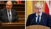Արմեն Սարգսյանը նամակ է հղել Մեծ Բրիտանիայի վարչապետին․ նախագահը Ջոնսոնին մաղթել է շուտափո...