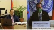 Արսեն Թորոսյանը տեսազրույց է ունեցել ԱՀԿ եվրոպական տարածաշրջանային գրասենյակի ղեկավարի հետ...