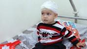 Մարտունի քաղաքում ծանր ռմբակոծությունից հետո վիրավորված 2-ամյա Արծվիկը դուրս է գրվել հիվան...