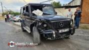 Խոշոր ավտովթար Կոտայքի մարզում. Նոր Գեղի գյուղի սկզբնամասում բախվել են Mercedes G63-ն ու M...