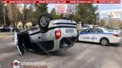 Աբովյան քաղաքում բախվել են Opel Astra-ն ու Opel Zafira-ն. վերջինս գլխիվայր շրջվել է. կա վի...