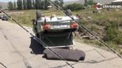 Խոշոր ավտովթար Գեղարքունիքում. ավտոմեքենայի անիվի պայթելու հետևանքով «03»-ը բախվել է քարեր...