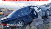 Ավտովթար Արագածոտնի մարզում. 34–ամյա վարորդը Mercedes-ով նոր կառուցվող ճանապարհին բախվել է...