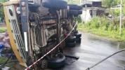 Սարալանջ-Արագյուղ ավտոճանապարհին «ԿամԱԶ»-ը դուրս է եկել ավտոճանապարհի երթևեկելի հատվածից և...