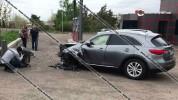 Գավառում բախվել են Infiniti-ն ու Opel-ը. կա 2 վիրավոր