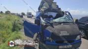 Խոշոր ավտովթար՝ Կոտայքի մարզում. բախվել են Opel Combօ-ն, Ford Transit-ն ու ЗИЛ վերամբարձ կ...