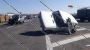Արմավիրի մարզում բախվել են Mazda-ն ու «06»-ը, վերջինս կողաշրջվել է. վարորդները տեղափոխվել ...