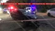 Խոշոր ավտովթար Արմավիր քաղաքում, ճակատ-ճակատի բախվել են սև ու սպիտակ BMW-ները
