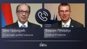 Արա Այվազյանը հեռախոսով զրուցել է Լատվիայի ԱԳ նախարար Էդգարս Ռինկևիչսի հետ
