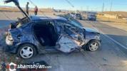 Խոշոր ավտովթար Շիրակի մարզում. ոստիկանության աշխատակիցը Opel-ով բախվել է քարերին. բժիշկներ...